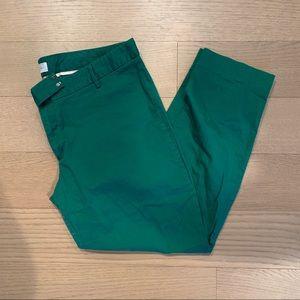 Gap Slim Cropped Green Khakis
